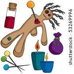 voodoo doll kit   Shutterstock .eps vector #53269996