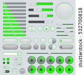 set of user interface buttons... | Shutterstock .eps vector #532700818