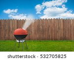 bbq picnic on backyard | Shutterstock . vector #532705825