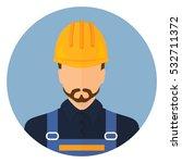 builder builder in protective... | Shutterstock .eps vector #532711372