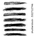 black ink vector brush strokes... | Shutterstock .eps vector #532712746