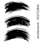 black ink vector brush strokes...   Shutterstock .eps vector #532712842