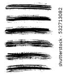 black ink vector brush strokes... | Shutterstock .eps vector #532713082