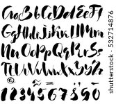hand drawn font made by dry... | Shutterstock .eps vector #532714876