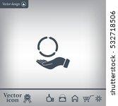 circular arrows on hand icon ... | Shutterstock .eps vector #532718506