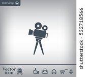 video camera icon vector | Shutterstock .eps vector #532718566