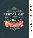 christmas postcard with vintage ...   Shutterstock .eps vector #532719082