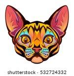 cat head | Shutterstock .eps vector #532724332