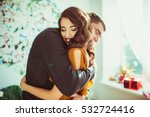 beautiful lady leans to man's... | Shutterstock . vector #532724416