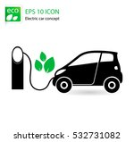 electric car icon separated on... | Shutterstock .eps vector #532731082
