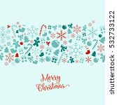 winter christmas layout... | Shutterstock .eps vector #532733122