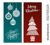 winter christmas layout... | Shutterstock .eps vector #532733125
