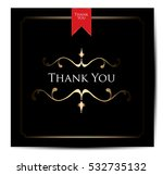 thank you card | Shutterstock .eps vector #532735132