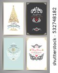 ornate holidays greeting cards. ... | Shutterstock .eps vector #532748182