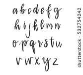vector hand drawn alphabet. dry ... | Shutterstock .eps vector #532754242