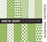 Green Geometric Patterns In...
