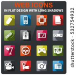 devices icons set in flat... | Shutterstock .eps vector #532754932