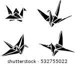 origami paper cranes | Shutterstock .eps vector #532755022