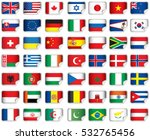 set of world flags. eps 10 file ... | Shutterstock .eps vector #532765456