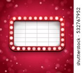red theatre signboard | Shutterstock .eps vector #532767952