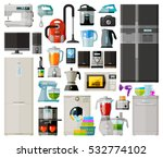 appliances. set icons... | Shutterstock .eps vector #532774102