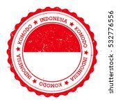 komodo flag badge. grunge... | Shutterstock .eps vector #532776556