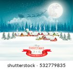 winter village night christmas... | Shutterstock .eps vector #532779835