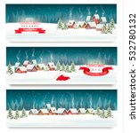 three christmas holiday... | Shutterstock .eps vector #532780132
