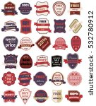 set of thirty badges with... | Shutterstock . vector #532780912