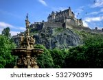 edinburgh castle during summer  ...