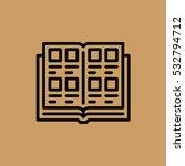 open book icon. flat design