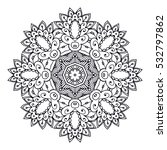 outline mandala for coloring... | Shutterstock .eps vector #532797862
