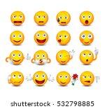 funny emoticons set. emoticons... | Shutterstock .eps vector #532798885