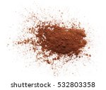 pile cocoa powder isolated on... | Shutterstock . vector #532803358