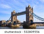 tower bridge on sunny day ... | Shutterstock . vector #532809556