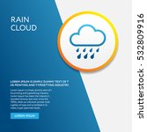 info board with weather symbol... | Shutterstock .eps vector #532809916
