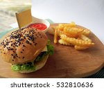 burger and steak | Shutterstock . vector #532810636