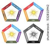 explosion pentagon  oxygen ... | Shutterstock .eps vector #532810942