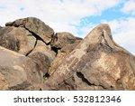 petroglyphs at boca negra... | Shutterstock . vector #532812346