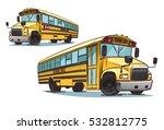 cartoon school bus illustration   Shutterstock .eps vector #532812775