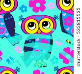 vector seamless pattern with... | Shutterstock .eps vector #532815535