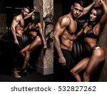 beautiful couple in the fitness ... | Shutterstock . vector #532827262