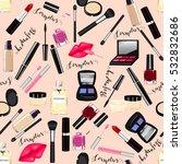makeup  perfume  cosmetics... | Shutterstock . vector #532832686