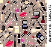 makeup  perfume  cosmetics... | Shutterstock . vector #532832692