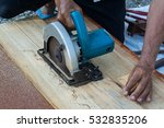 Circular Saw.carpenter Using...