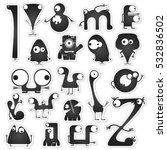 set of twenty black and white...   Shutterstock .eps vector #532836502