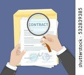 contract inspection concept.... | Shutterstock .eps vector #532839385