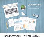 data analysis concept. ... | Shutterstock .eps vector #532839868