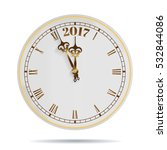 2017 old clock with roman... | Shutterstock .eps vector #532844086