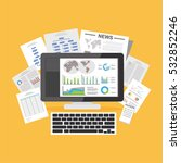 digital documents. online... | Shutterstock .eps vector #532852246